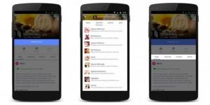 Abbildung von Mobiltelefonen während der Nutzung der Facebook Unternehmensseiten