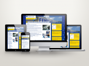 Abbildung der Website von Fenoplast auf mehreren Endgeräten