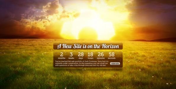 Das Warten auf die Website versüßen