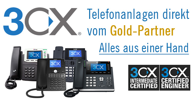 3CX Cloud Telefonanlagen Gold-Partner