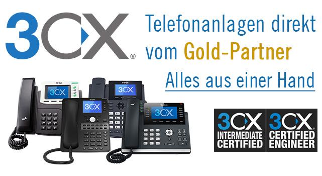 3CX Cloud Telefonanlagen Gold-Partner