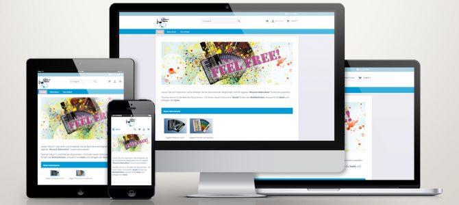 Shopware Online Shop für Brosch Musik GmbH
