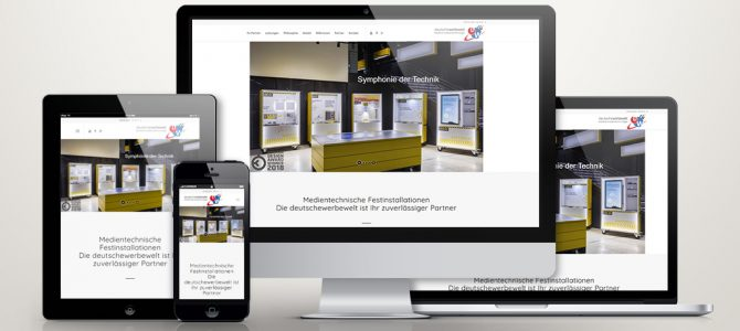 One-Page für die Installationen der deutschewerbewelt
